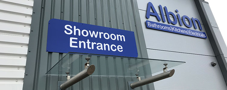 Albion Bathrooms Kitchens and Electricals Entrance